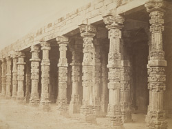 Corridor formed of ancient Boodhistic columns, Kootub Minar.
